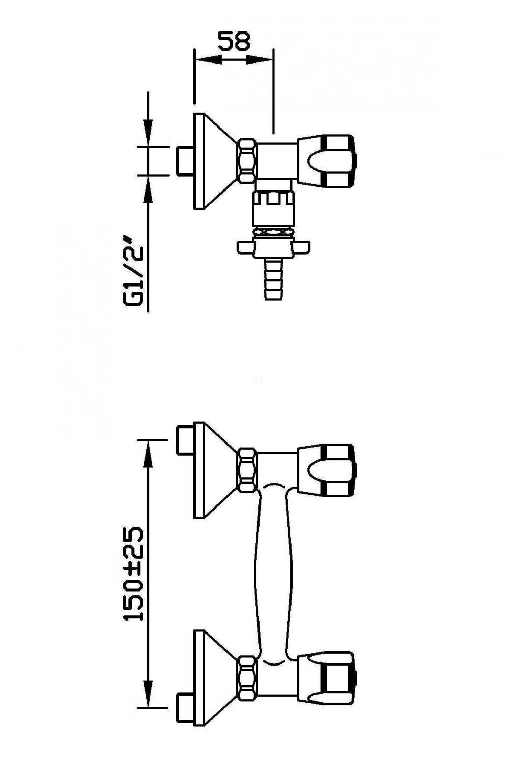 """Echtermann Wandbatterie 12"""" Schlauchanschluss Hochdruck  Gastrodax ® von Durchlauferhitzer Niederdruck Oder Hochdruck Bild"""