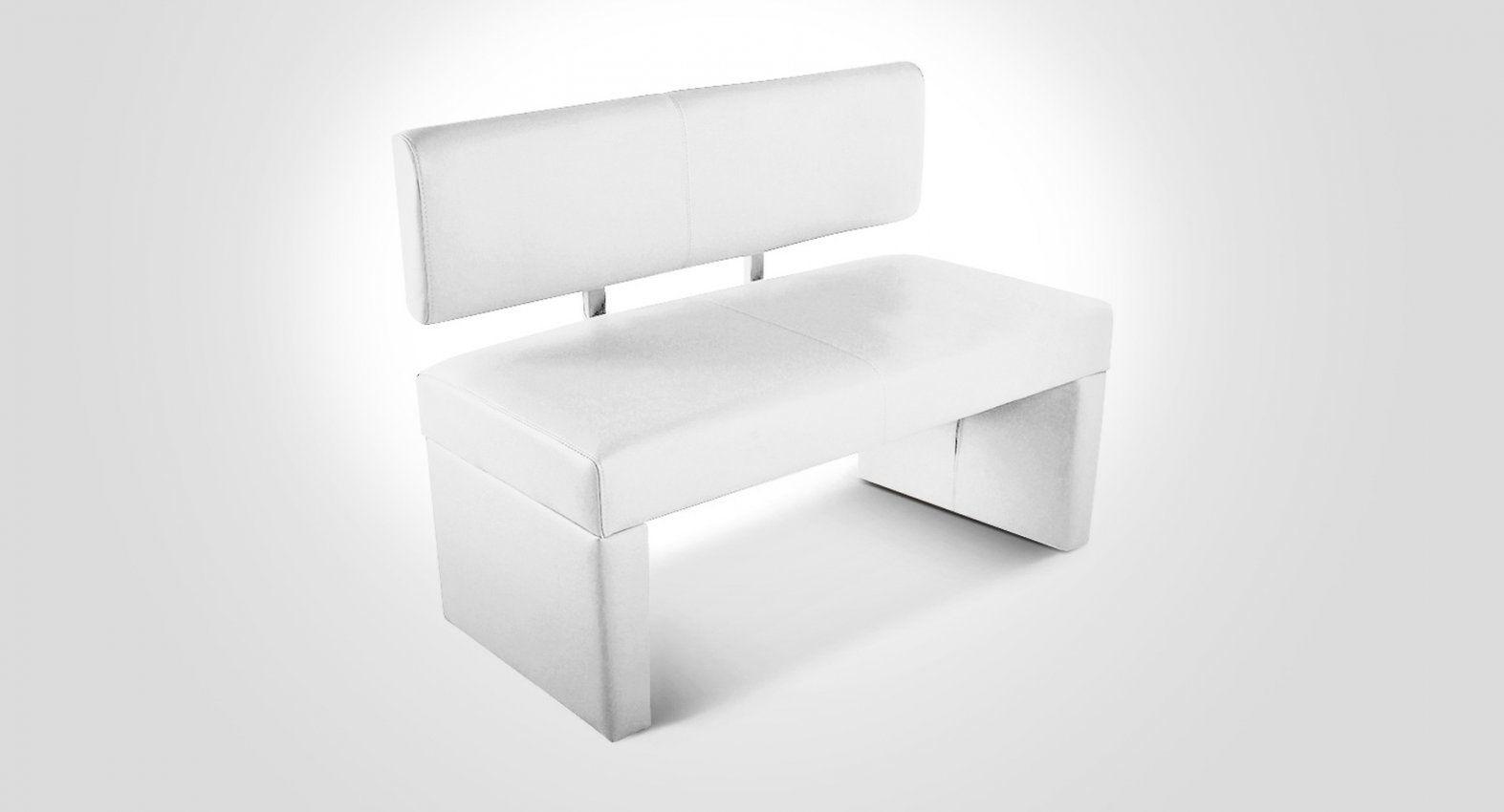 Echtleder Sitzbank 100 Cm Mit Rückenlehne In Weiß Strozzi von Sitzbank Mit Lehne 100 Cm Photo