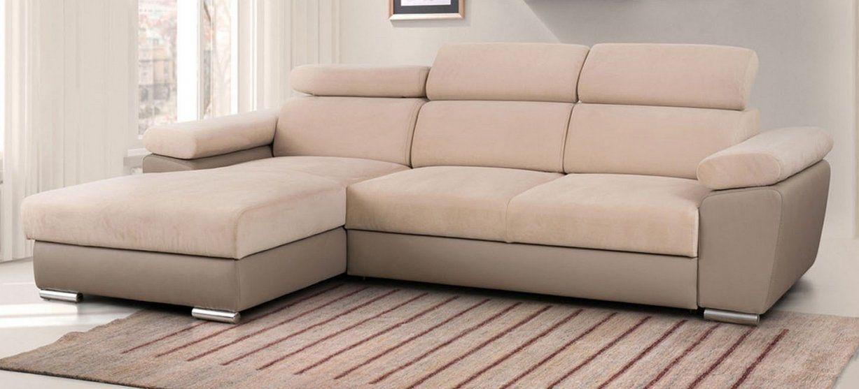 Ecksofa Grenada Mit Schlaffunktion Und Bettkasten  Möbel Für Dich von Couch Mit Bettkasten Und Schlaffunktion Bild