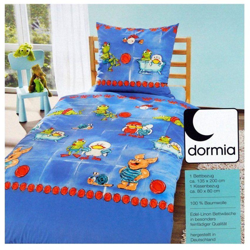 Edel Linon Kinder Bettwäsche Froschkönig Blau 135 X 200 Cm 100 von Dormia Bettwäsche Hersteller Bild