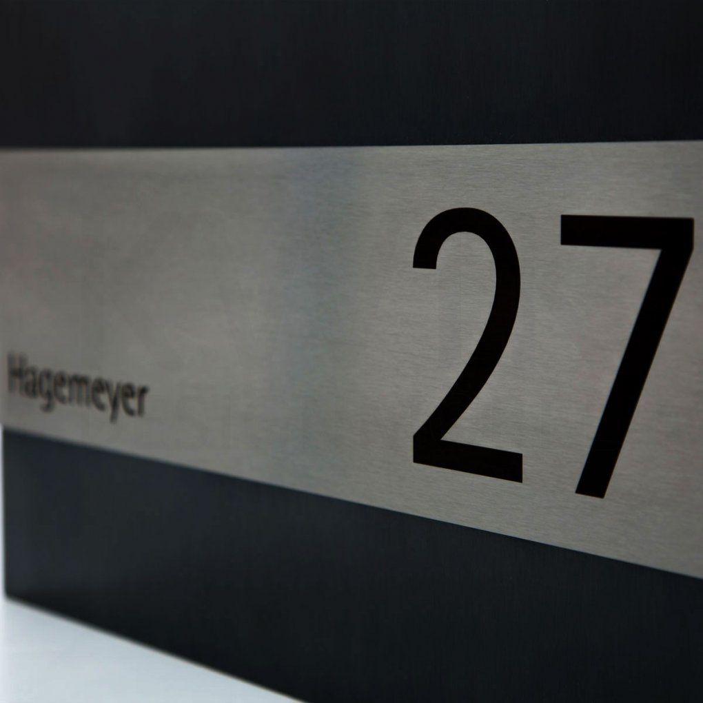 Edelstahl Briefkasten Siljan In Schwarz Mit Zeitungsfach Hausnummer von Briefkasten Edelstahl Mit Hausnummer Photo