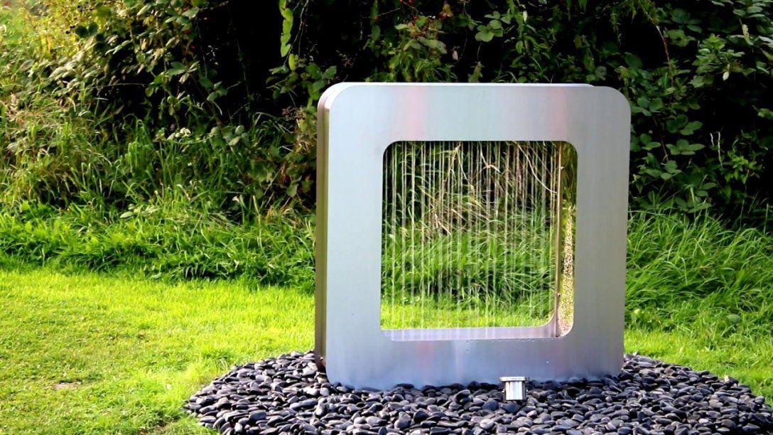 Edelstahl Brunnen Valentina  Youtube von Gartenbrunnen Edelstahl Mit Beleuchtung Photo