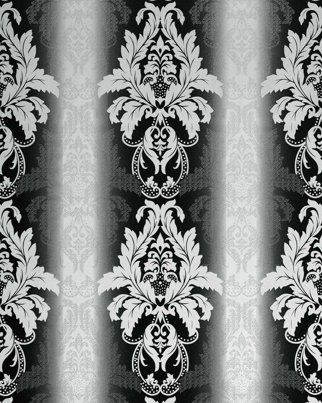 Edem 77030 Barocktapete Damask Tapete 3D Brokat Struktur Schwarz von Barock Tapete Schwarz Weiß Photo