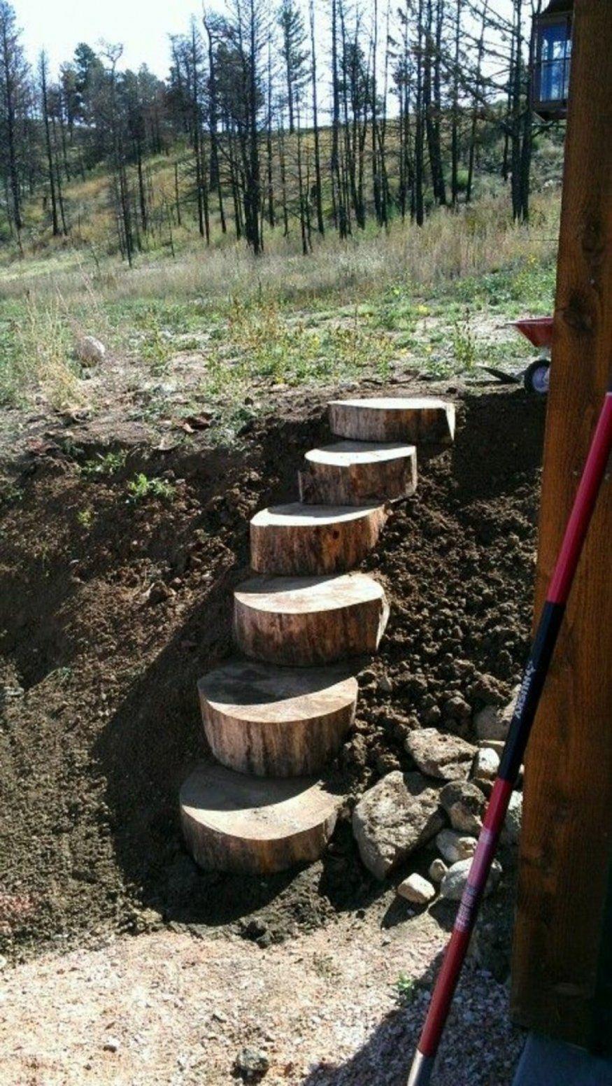 Ehrfurcht Gebietend Gartentreppe Bauen Holz Gartentreppe Holz Selber von Gartentreppe Selber Bauen Anleitung Bild