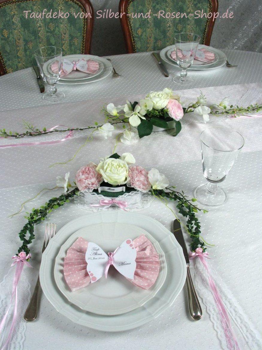Ehrfurcht Gebietend Tischdeko Taufe Selber Machen Tischgesteck Rosa von Deko Taufe Selber Machen Bild