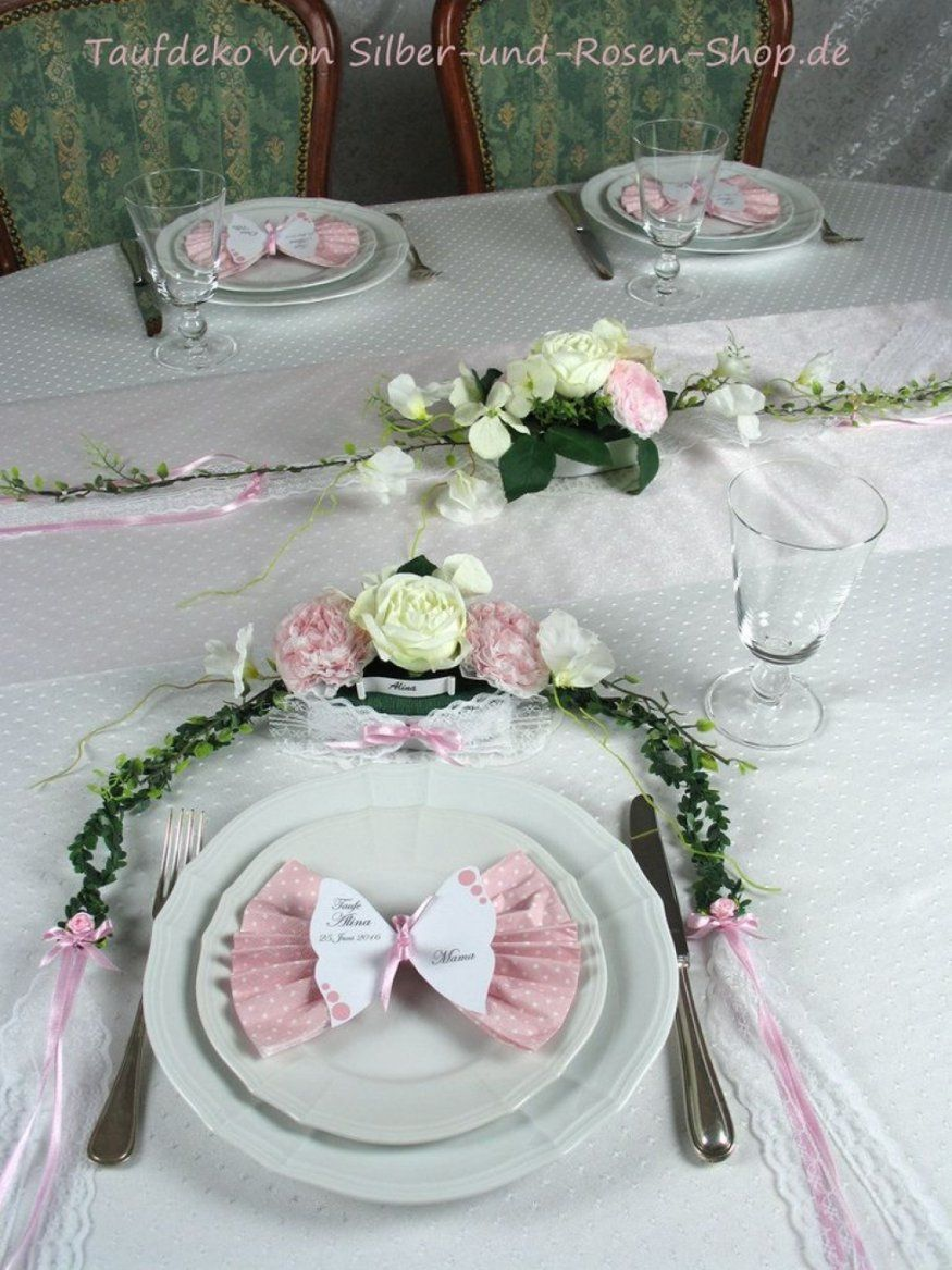 Ehrfurcht Gebietend Tischdeko Taufe Selber Machen Tischgesteck Rosa von Tischdeko Taufe Selber Basteln Photo