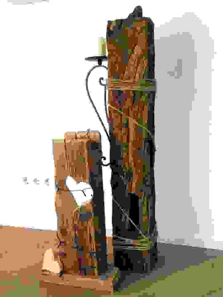 Eichenbalken Mit Kordel Und Kerzenhalter Einzigartig Basteln Mit von Basteln Mit Alten Holzbalken Photo