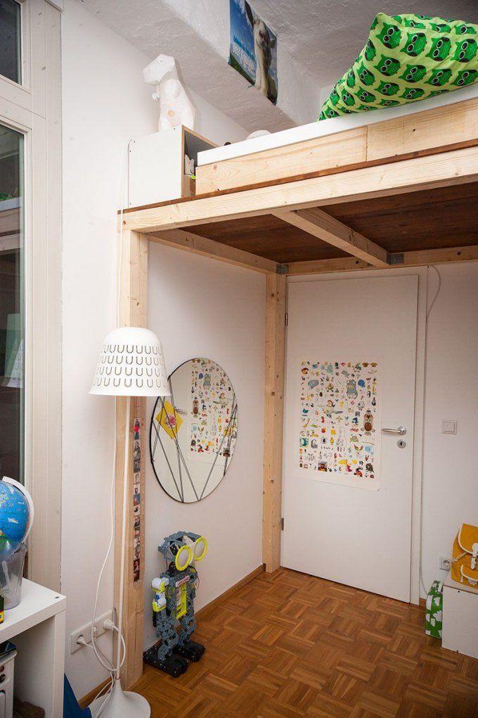 Ein Hochbett Selber Bauen  Diy Anleitung  Hochbett Selber Bauen von Hochbett Treppe Selber Bauen Photo
