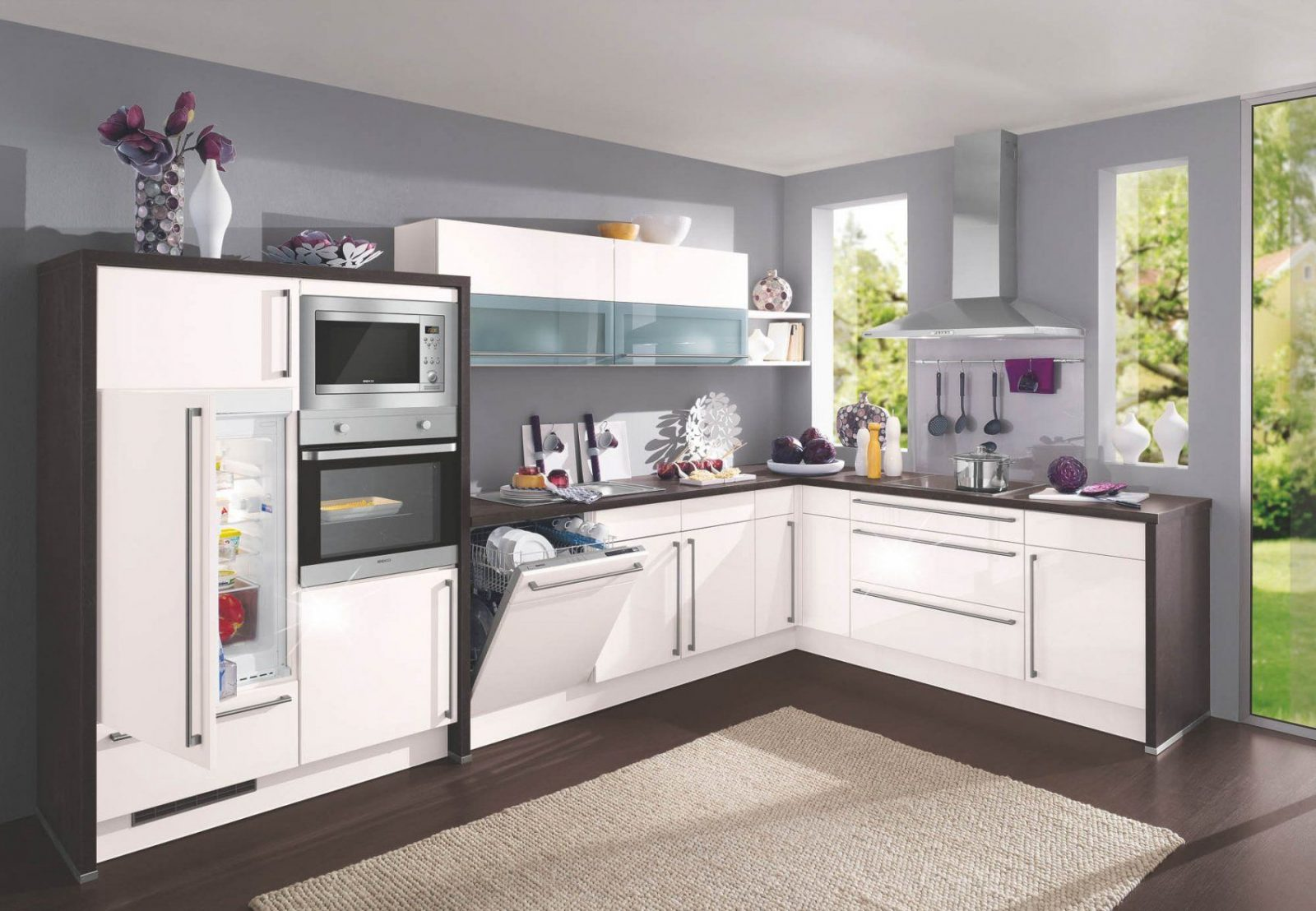Einbauküche Lform In L Form Top Gnstig Kaufen Poolami Kuche Roller von Roller Küchen L Form Bild