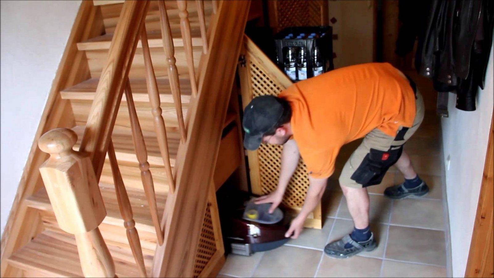 Einbauschrank Unter Treppe  Wwwschreinereiaumueller  Youtube von Schrank Unter Treppe Bauanleitung Photo