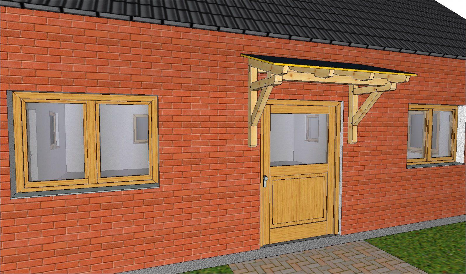 Eine Eingangsüberdachung Als Vordach Selbst Gebaut von Vordach Selber Bauen Bauanleitung Photo