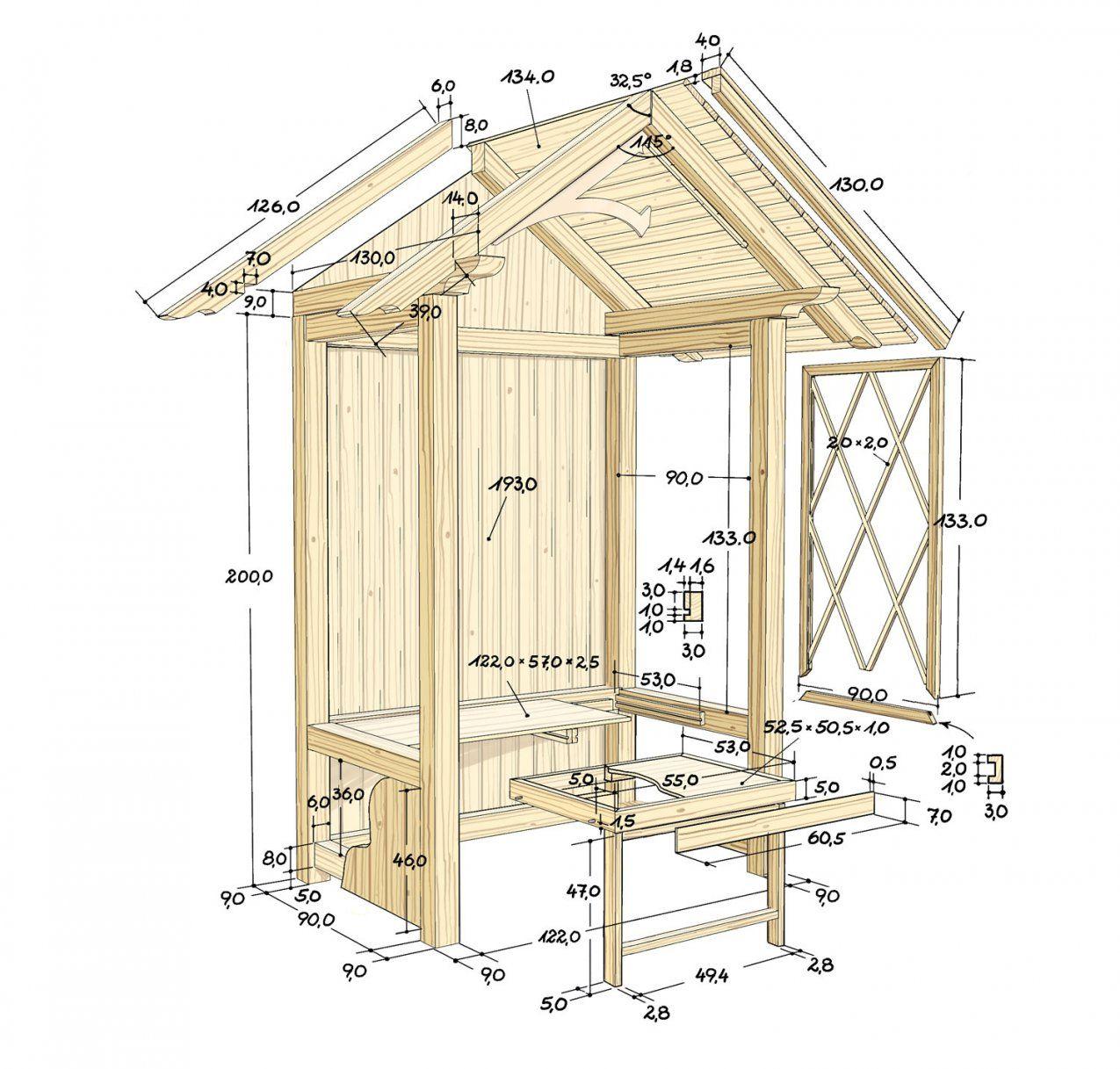 Eine Gartenlaube Zum Wohlfühlen  Selber Machen Heimwerkermagazin von Grillhütte Selber Bauen Anleitung Bild