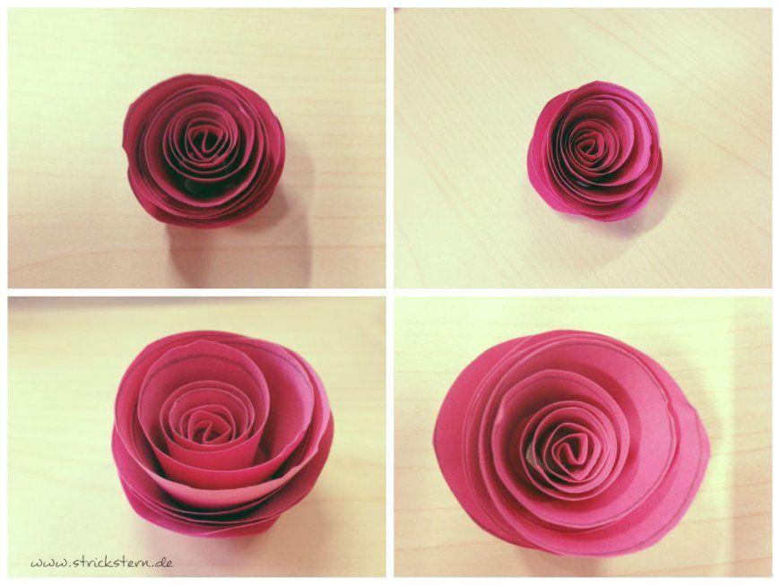 Einfach Basteln Anleitung Papierrosen Avec Papier Rose Basteln Et von Rose Basteln Papier Anleitung Photo