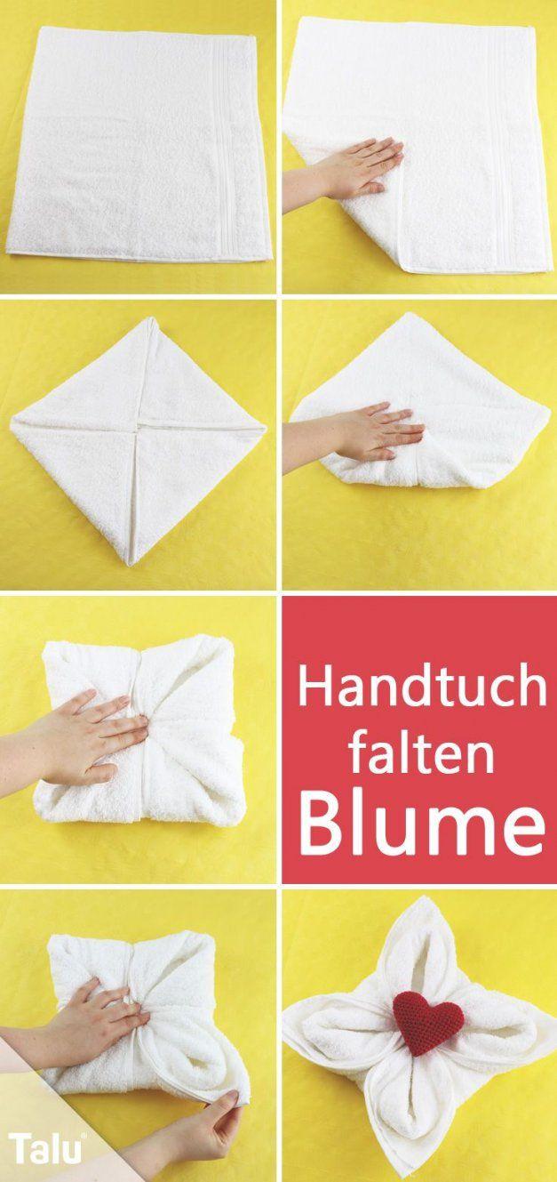 Einfach Genial Handtücher Falten Wie Im Hotel  Handtücher Falten von Servietten Falten Blume Anleitung Bild