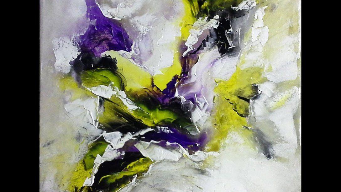 Einfach Malenabstrakte Malerei Spachteltechnik  V6  Youtube von Acrylbilder Abstrakt Selber Malen Bild