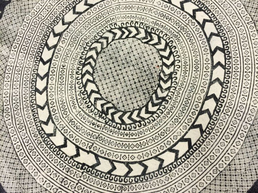 Einfach Teppich Rund Schwarz Weiß 14209 von Teppich Rund Schwarz Weiß Bild