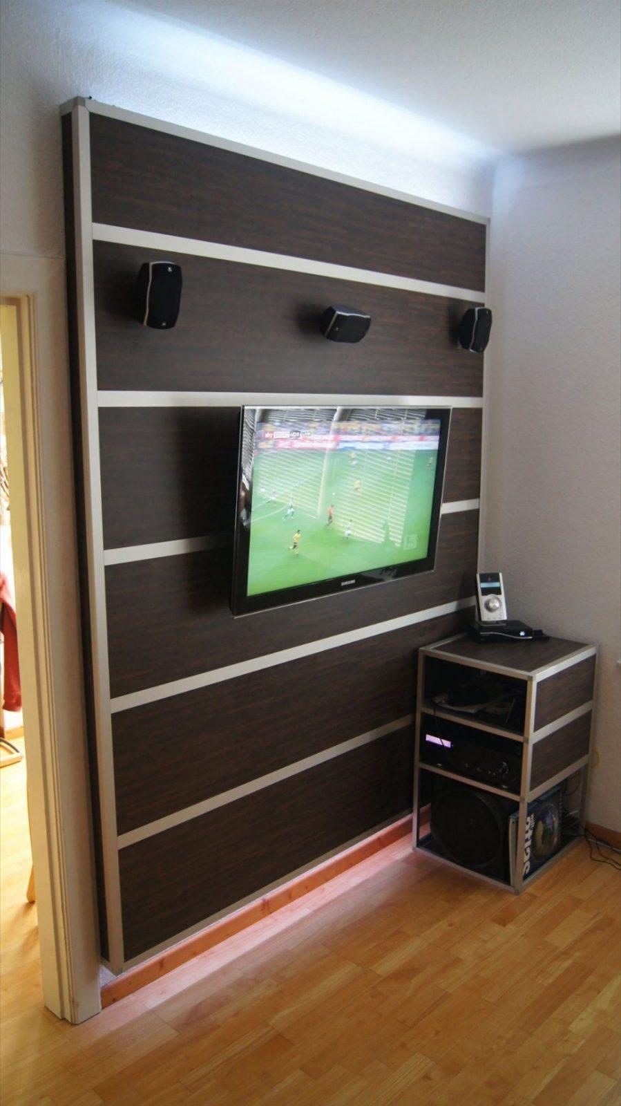 Einfach Zuhause Stil Einschließlich Tv Wand Selber Bauen Laminat von Tv Wand Selber Bauen Laminat Photo