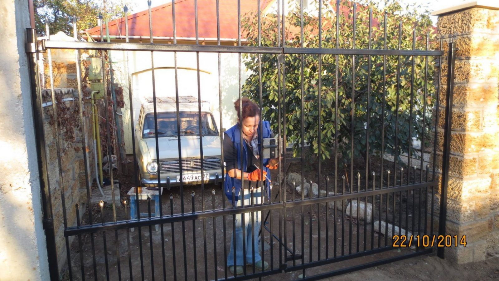 Einfahrttor Selbstgemacht  Youtube von Schmiedeeisen Zaun Selber Bauen Bild