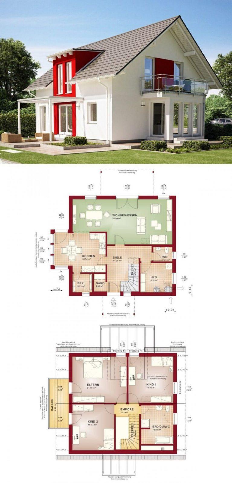 Einfamilienhaus Klassisch Mit Satteldacharchitektur Erker Anbau Und von Bien Zenker Evolution 154 Bild