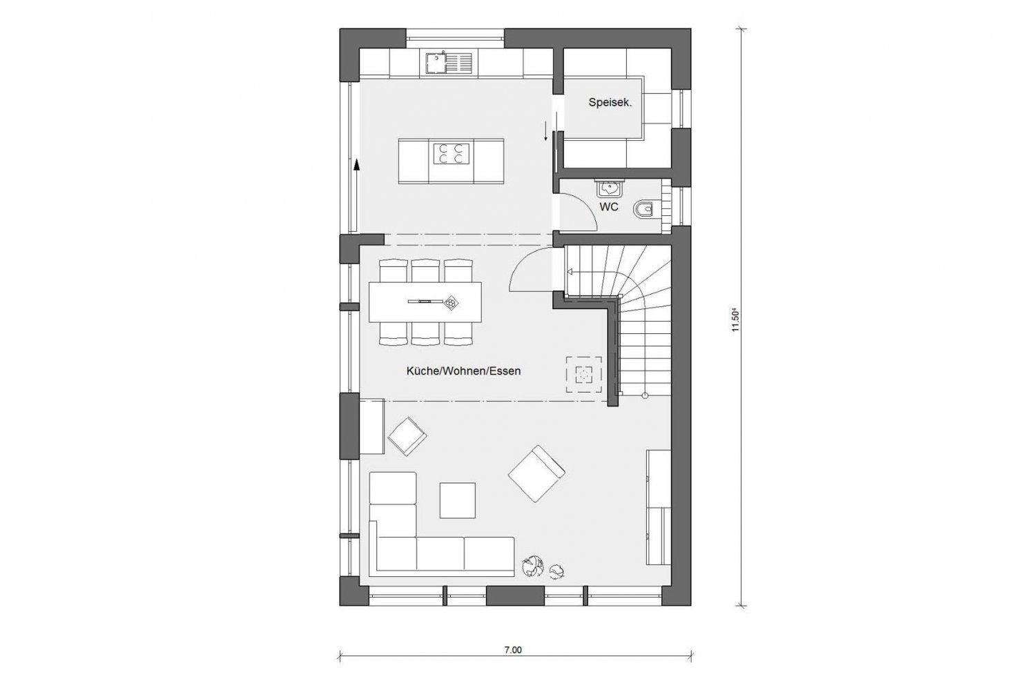 Einfamilienhaus Mit Schmalem Grundriss  Schwörerhaus von Einfamilienhaus Am Hang Grundrisse Bild