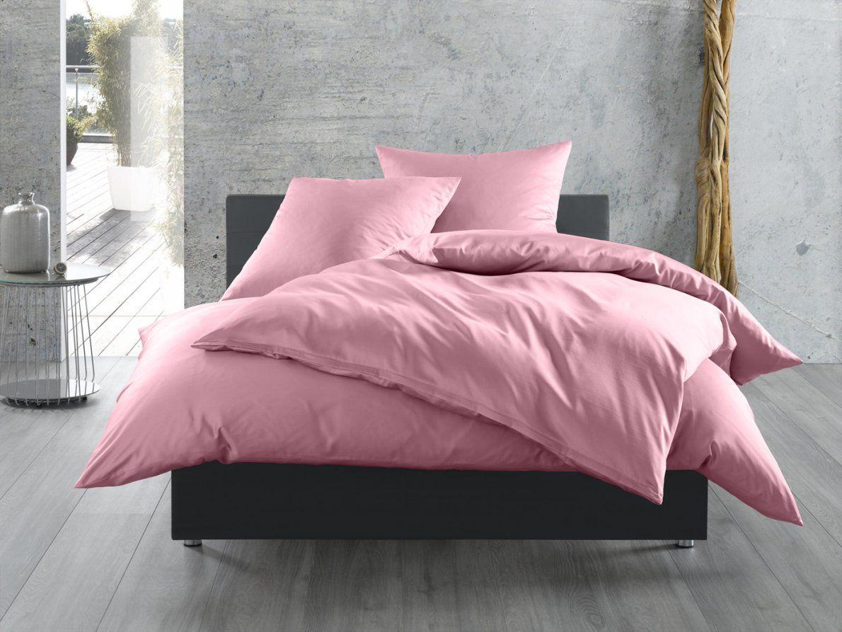 Einfarbige Bettwäsche In Rosa  Bettwaeschemitstil von Bettwäsche Lila Uni Photo