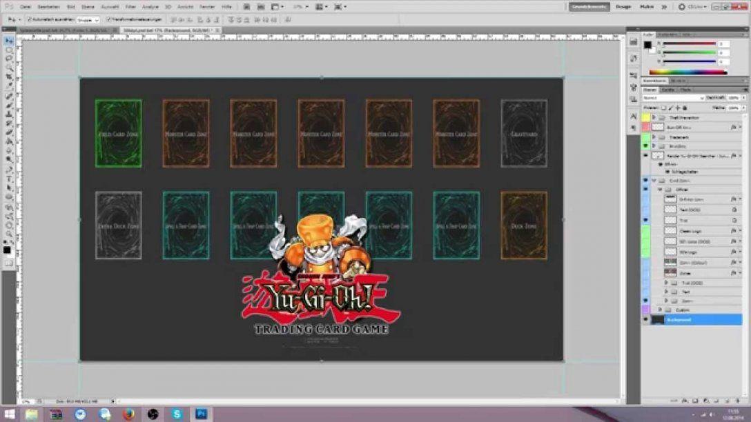 Einsteigertutorial Yugioh Spielmatte Mit Photoshop Designen von Yugioh Karten Selber Drucken Bild