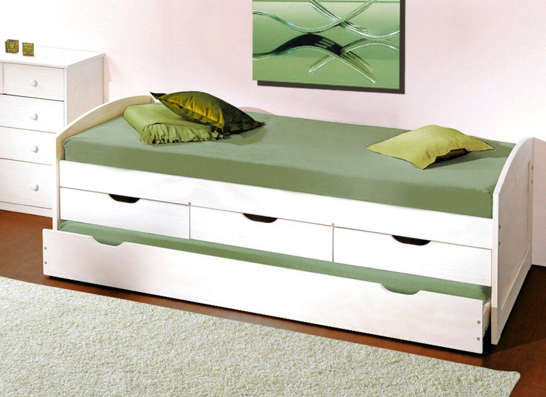 Einzelbett Mit Unterbett Weiß  Daredevz von Ikea Einzelbett Mit Unterbett Bild