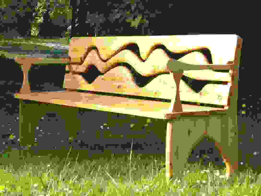 Einzigartig 40 Gartenbank Holz Rustikal Designideen  Einzigartiger von Rustikale Gartenbank Aus Holz Bild