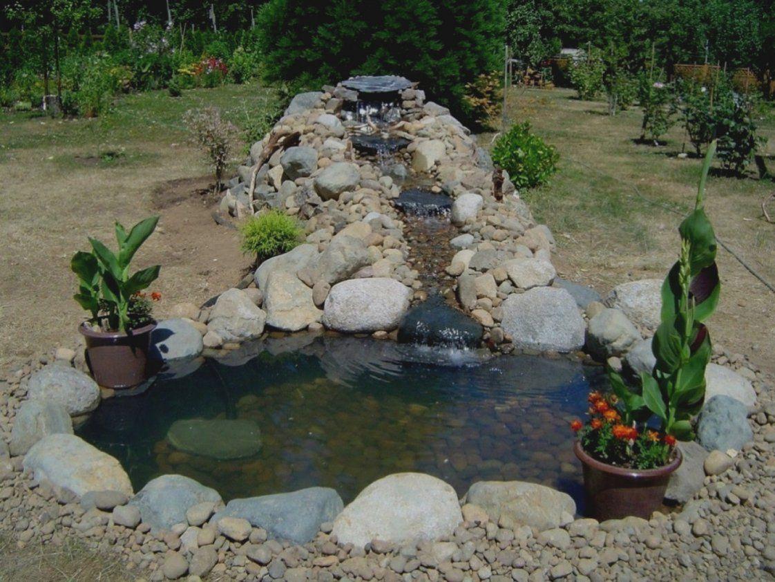 Einzigartige Bachlauf Fr Gartenteich Selber Bauen Teich Wasserfall von Wasserfall Gartenteich Selber Bauen Photo