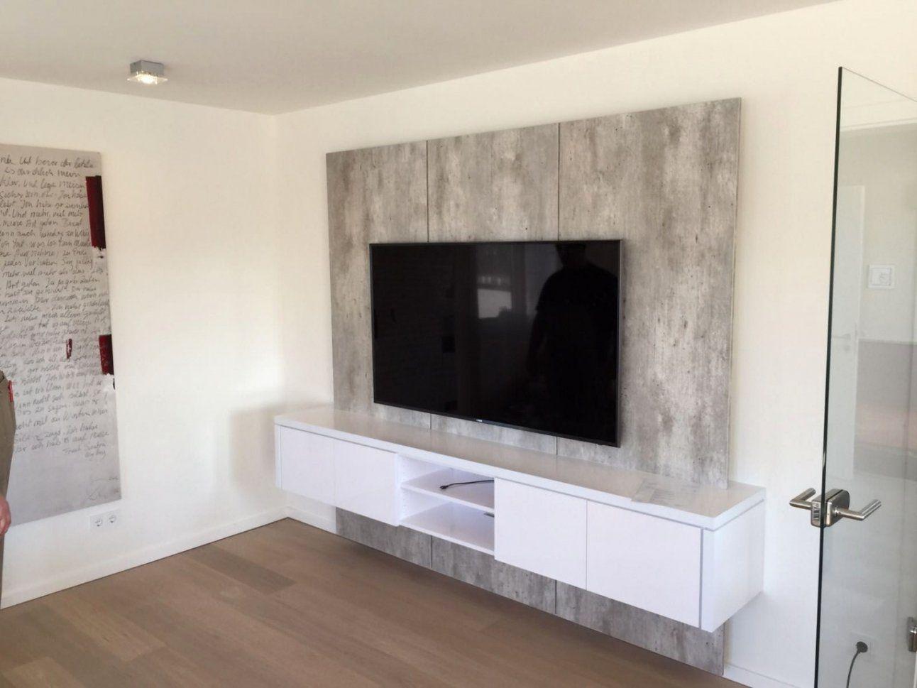 Elegant Tv Wand Xxl In Betonoptik Für Kunden In Solingen Zum Tv Wand von Tv Wand Bauen Anleitung Bild