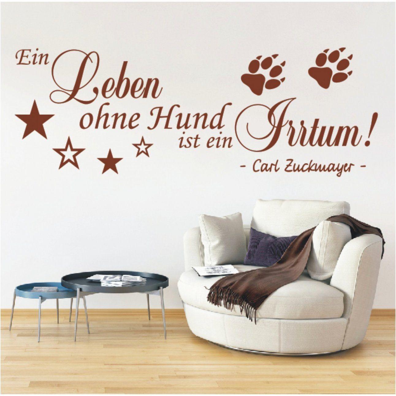 Elegant Wandtattoo Spruch Ein Leben Ohne Hund Zitat Wandsticker Zum von Sprüche Für Die Wand Selbst Gestalten Bild