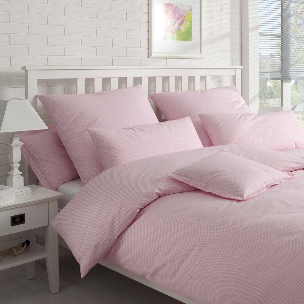 Elegante Bettwäsche Vichy Rose Günstig Online Kaufen Bei Bettwaren Shop von Bettwäsche 200X220 Rosa Bild