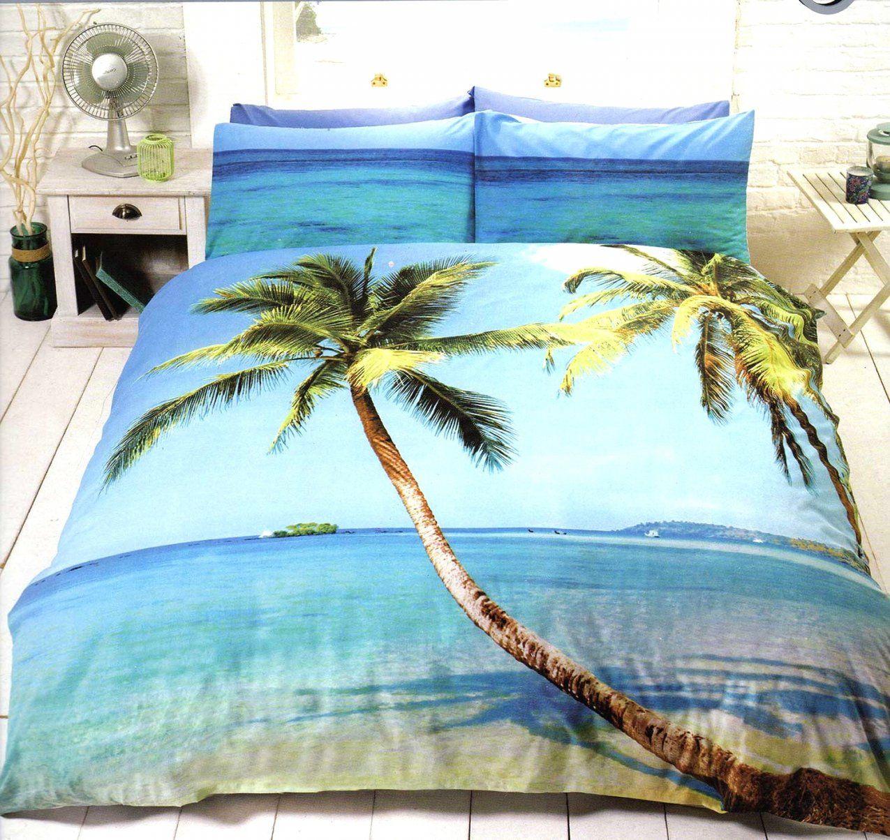Elegante Ideen Bettwäsche Palmen Und Angenehme Paradise Beach Sonne von Bettwäsche Palmen Motiv Bild