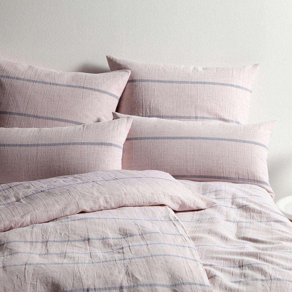 elegante leinen bettw sche relax rose g nstig online. Black Bedroom Furniture Sets. Home Design Ideas