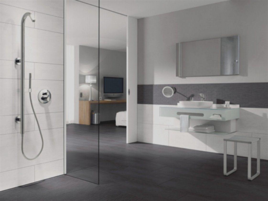 Elegantes Unikat Badezimmer Anthrazit Weis Fliesen Grau Bad Free von Bad Fliesen Anthrazit Weiß Bild