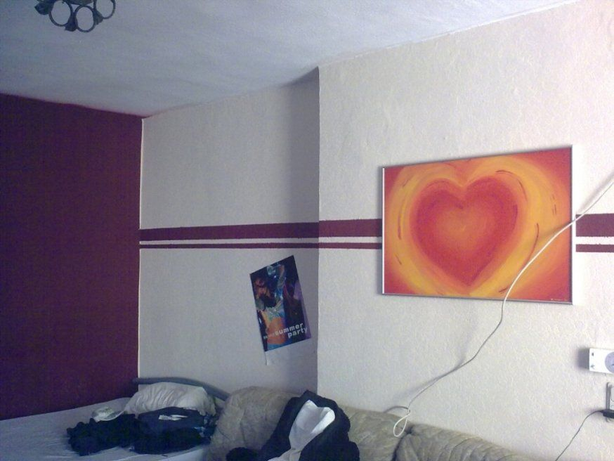 Elegantes Wand Streichen Ideen  Kleines Kinderzimmer von Wand Streichen Ideen Streifen Photo