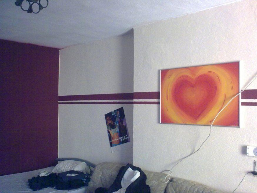 Elegantes Wand Streichen Ideen  Kleines Kinderzimmer von Wand Streichen Mit Streifen Photo