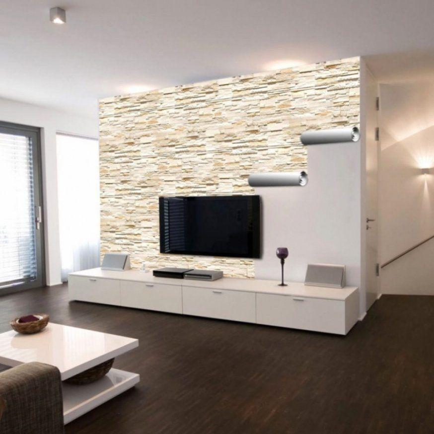 Elegantes Wandgestaltung Mit Steinoptik  Moderne von Steinoptik Wand Selber Machen Bild