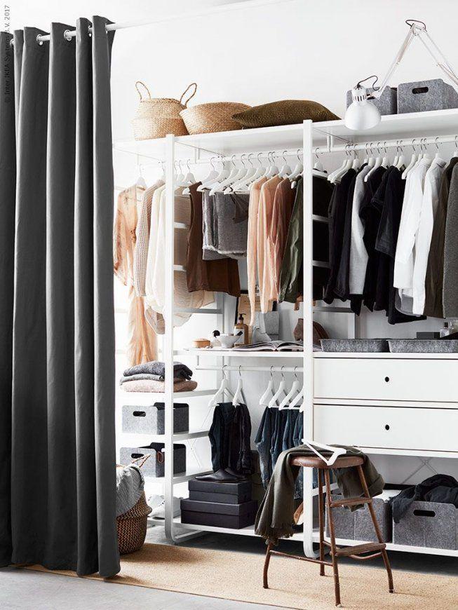 Elvarli 2 Elemente Weiß  Ikea Deutschland Schranksystem Und Elemente von Begehbarer Kleiderschrank Mit Vorhang Photo