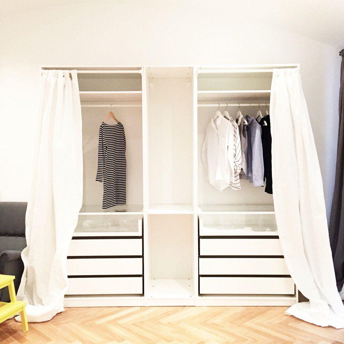 Empty Ikea Pax Closet Wwwannalaurakummer  I N T E R I O R von Pax Kleiderschrank Mit Vorhang Bild