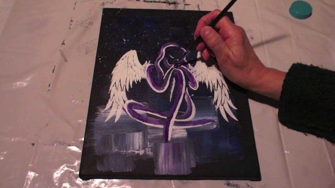Engel Malen Für Anfänger  How To Paint An Angel  Abstract Acrylic von Abstrakt Malen Für Anfänger Photo