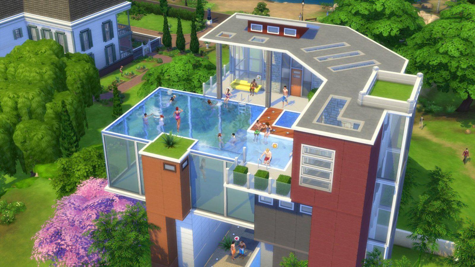 Erfahre Bei Uns Alle Zu Den Pools In Die Sims 4 Welche Avec Sims 3 von Sims 4 Häuser Bauen Ideen Photo