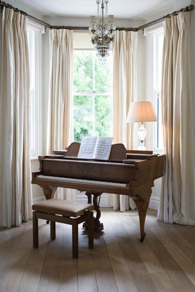 Erkerfenster Dekorieren  55 Gemütliche Ecken Mit Ausblick von Gardinen Ideen Für Erkerfenster Bild