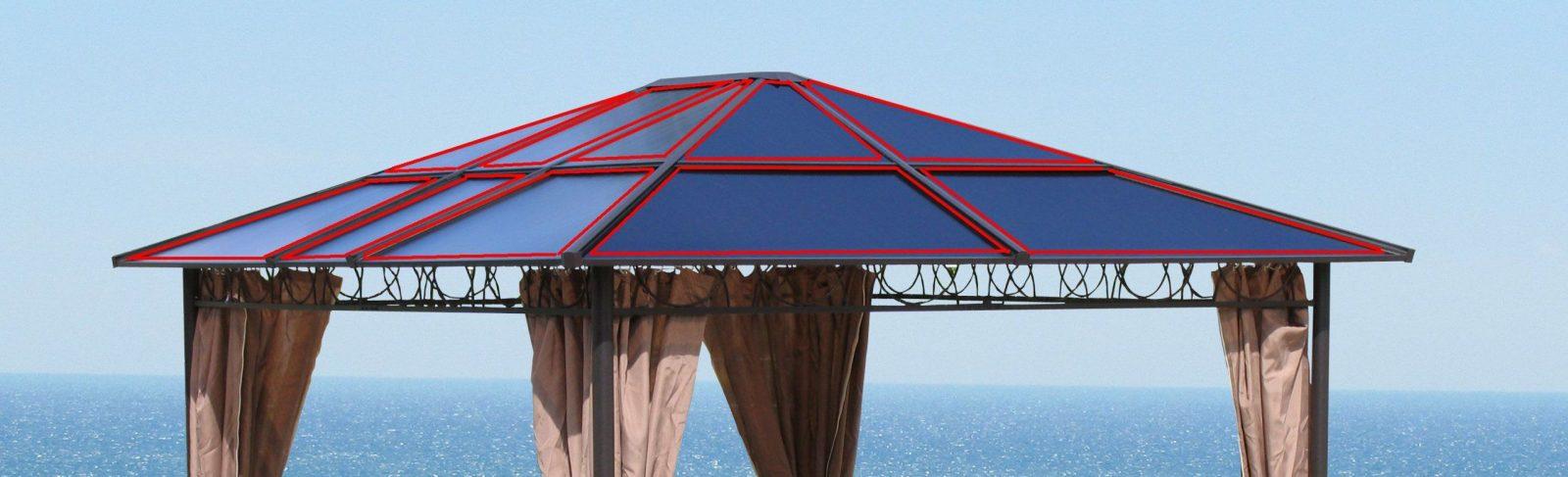 Ersatzdach Hardtop Pavillon 3X36M Doppelstegplatten Polycarbonat von Hardtop Pavillon 3X3 6M Photo