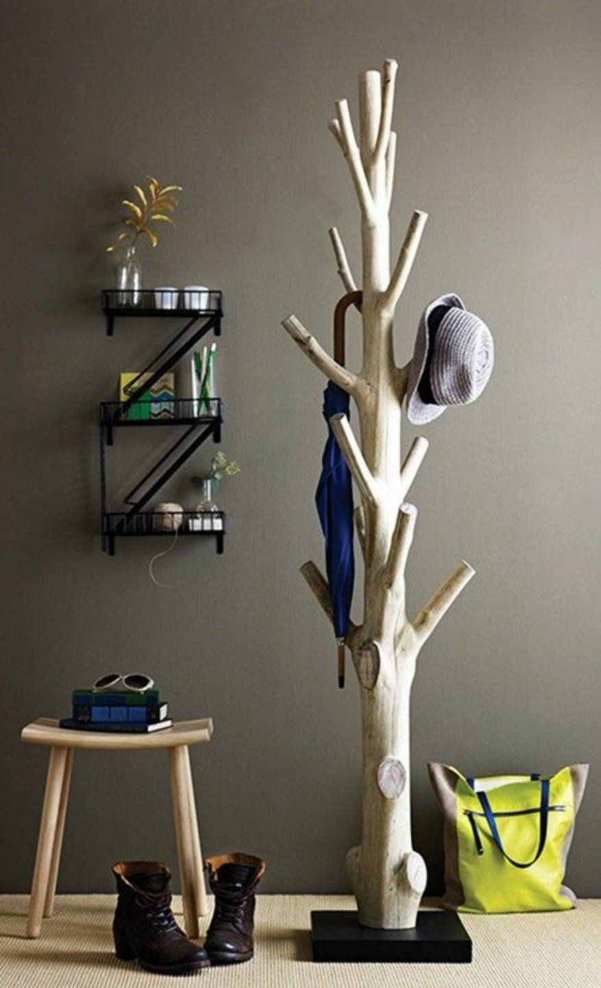 Erstaunlich Garderobe Baum Selber Bauen Garderobe Holzstamm Swalif von Garderobe Baum Selber Bauen Photo