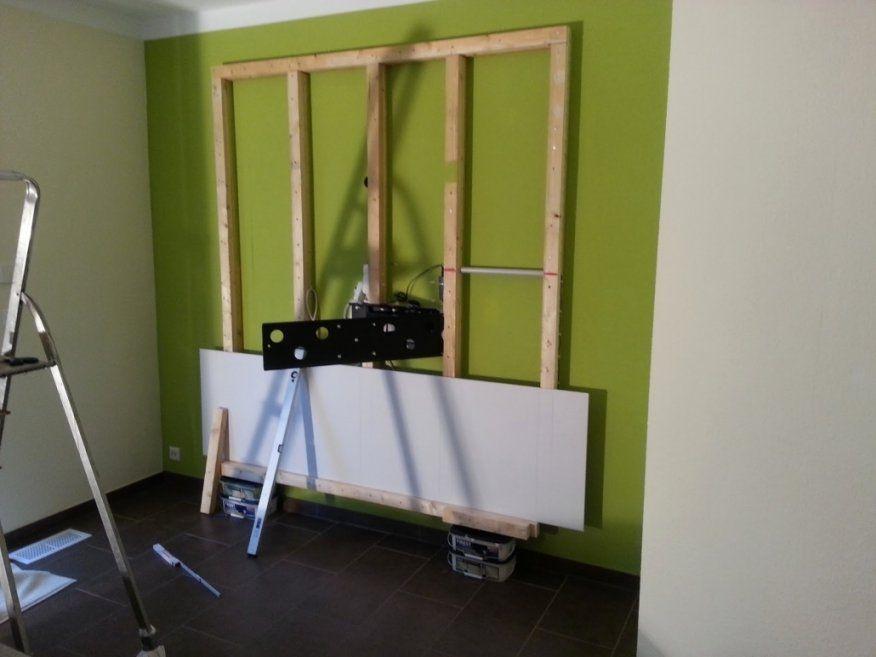 Erstaunlich Tv Verkleidung Selber Bauen Tv Wand Holz Hx86 Hitoiro