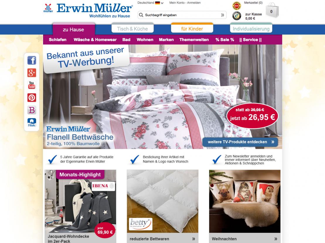 Erwin Müller Gutschein 20€  2018 Garantiert Gültig von Erwin Müller Flanell Bettwäsche Bild