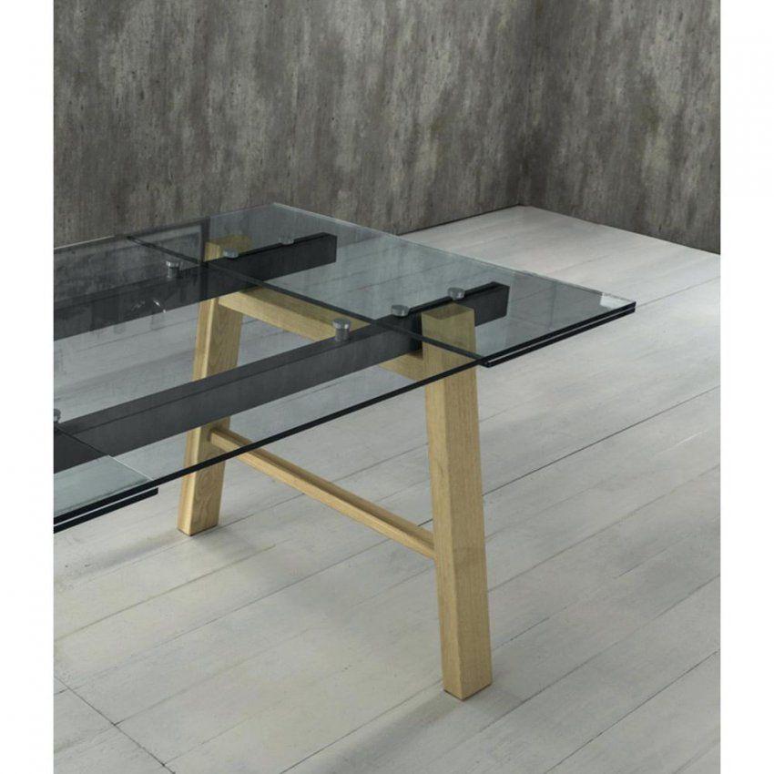 Esstisch Glasplatte Affordable Massivholz Beine Alma With Mit von Glas Esstisch Ausziehbar Ikea Bild
