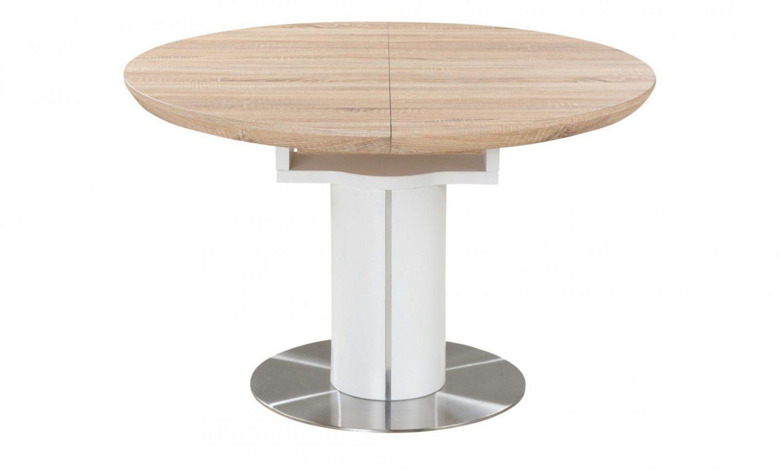 Esstisch Rund Ausziehbar Weiß Holzfarben  Möbel Höffner von Esstisch Rund Ausziehbar Modern Photo