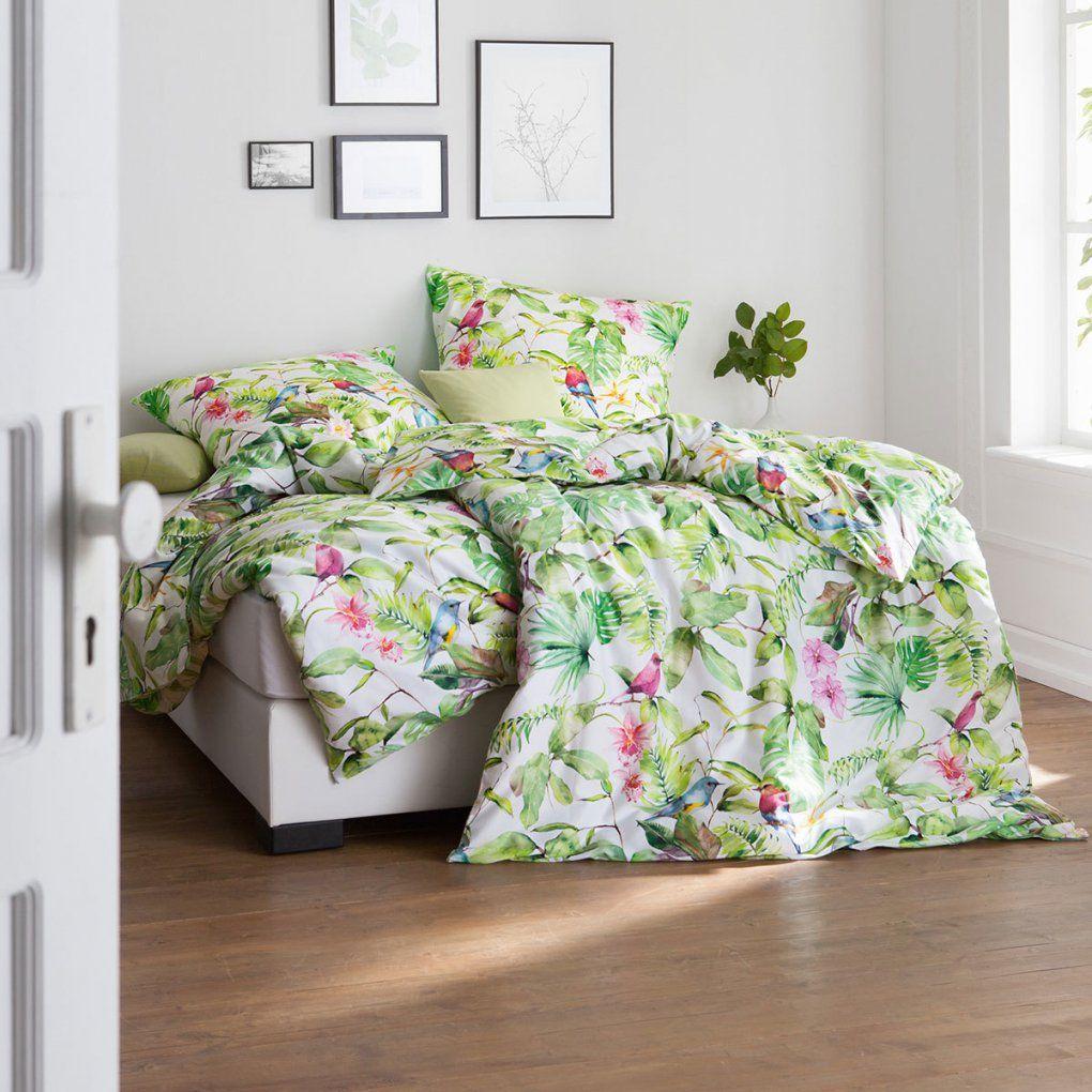 Estella Makosatin Bettwäsche Lilou Grün Günstig Online Kaufen Bei von Satin Bettwäsche Grün Bild